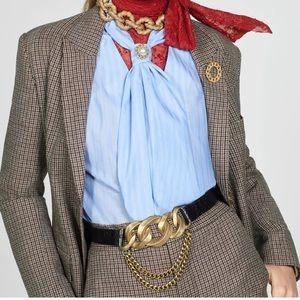 ZARA Leather and Link Belt
